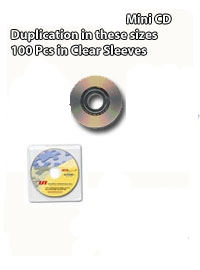 Your One Stop shop for CD Mini Disc Duplication